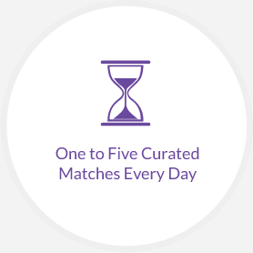 One to Five Curated Matches Every Day